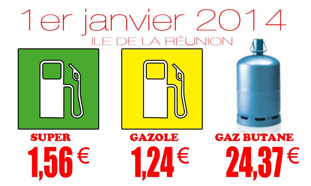 Prix de vente maximum des hydrocarbures à compter du 1er janvier 2014