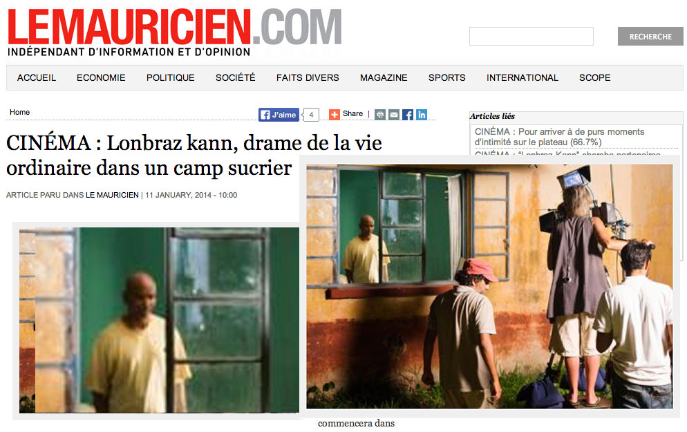 CINÉMA : Lonbraz kann, drame de la vie ordinaire dans un camp sucrier