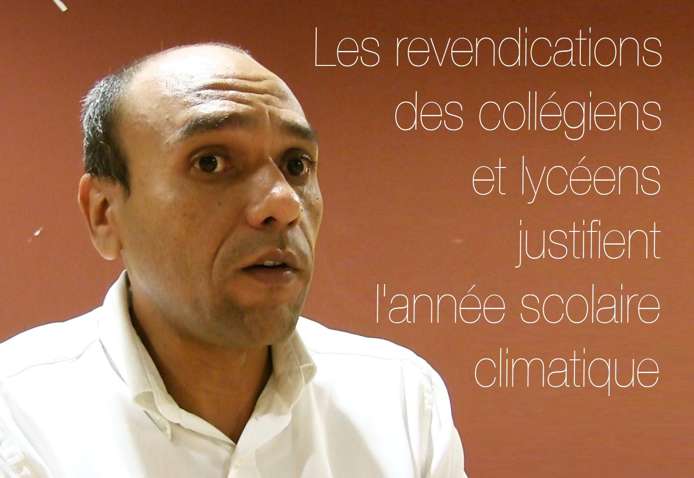 Yvan Dejean : Les revendications des collégiens et lycéens justifient l'année scolaire climatique