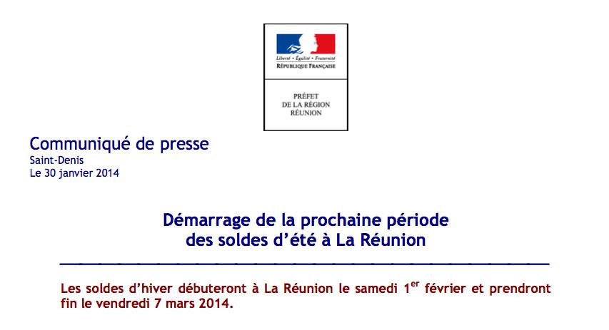 Préfecture : Démarrage de la prochaine période des soldes d'été à La Réunion