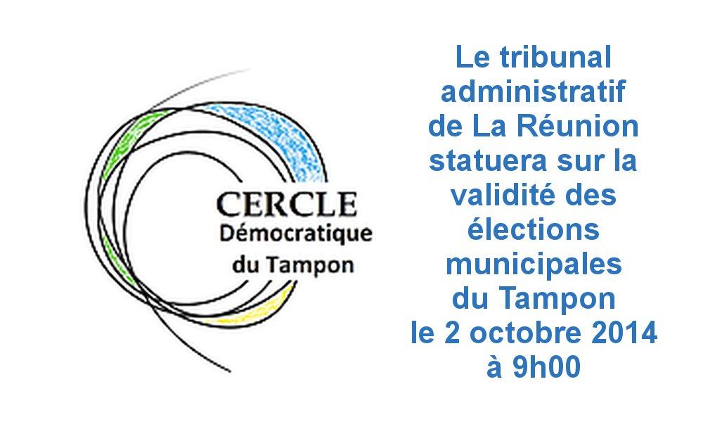 Élections municipales du Tampon au tribunal administratif