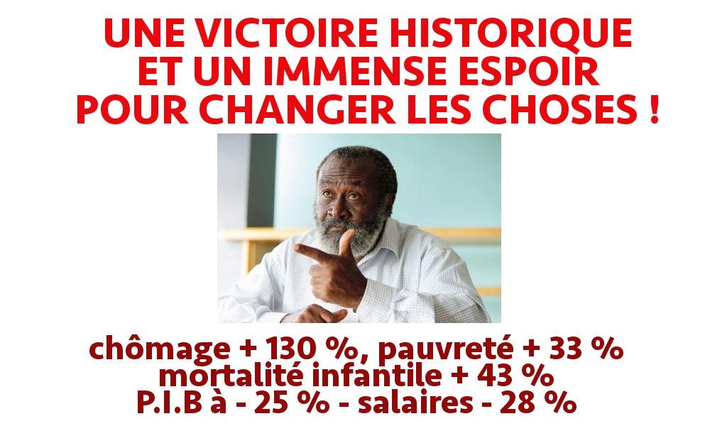 UNE VICTOIRE HISTORIQUE ET UN IMMENSE ESPOIR POUR CHANGER LES CHOSES !