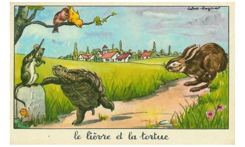 Le lièvre et la tortue