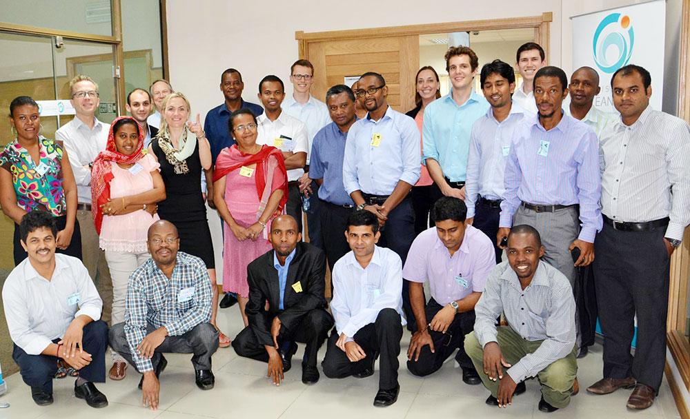 Photo de groupe lors du lancement du SWIO RAFI