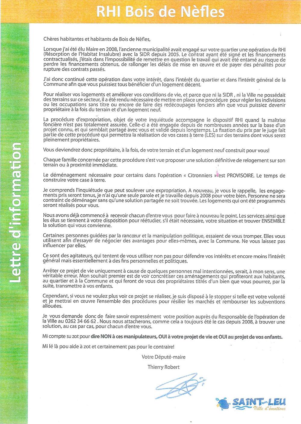 Thierry Robert et la RHI de Bois de Nefles
