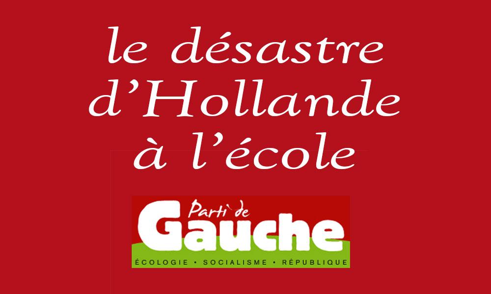 Rentrée 2015 : Le désastre d'Hollande à l'école
