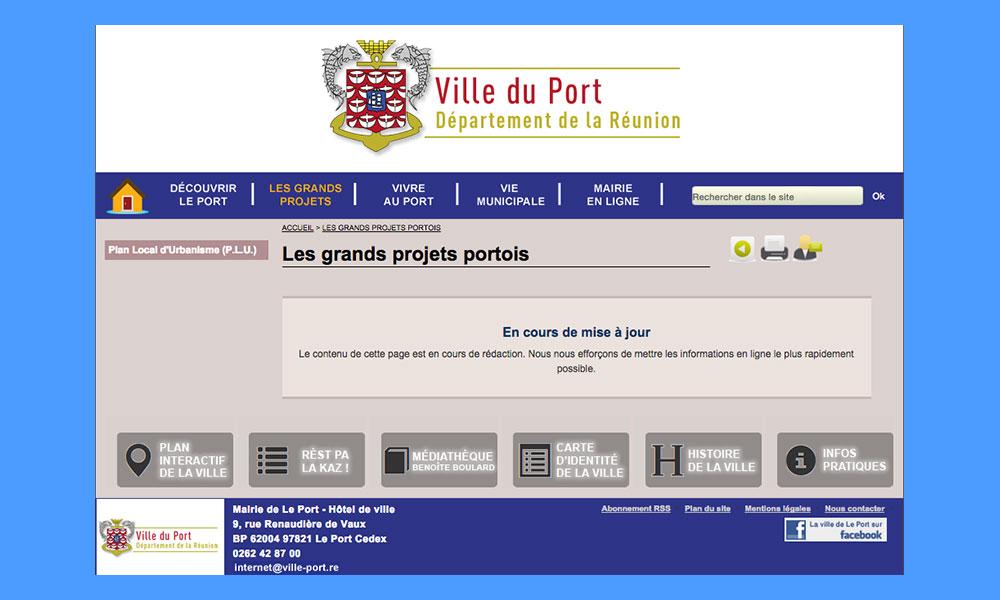 L'histoire du Port ? un grand blanc !