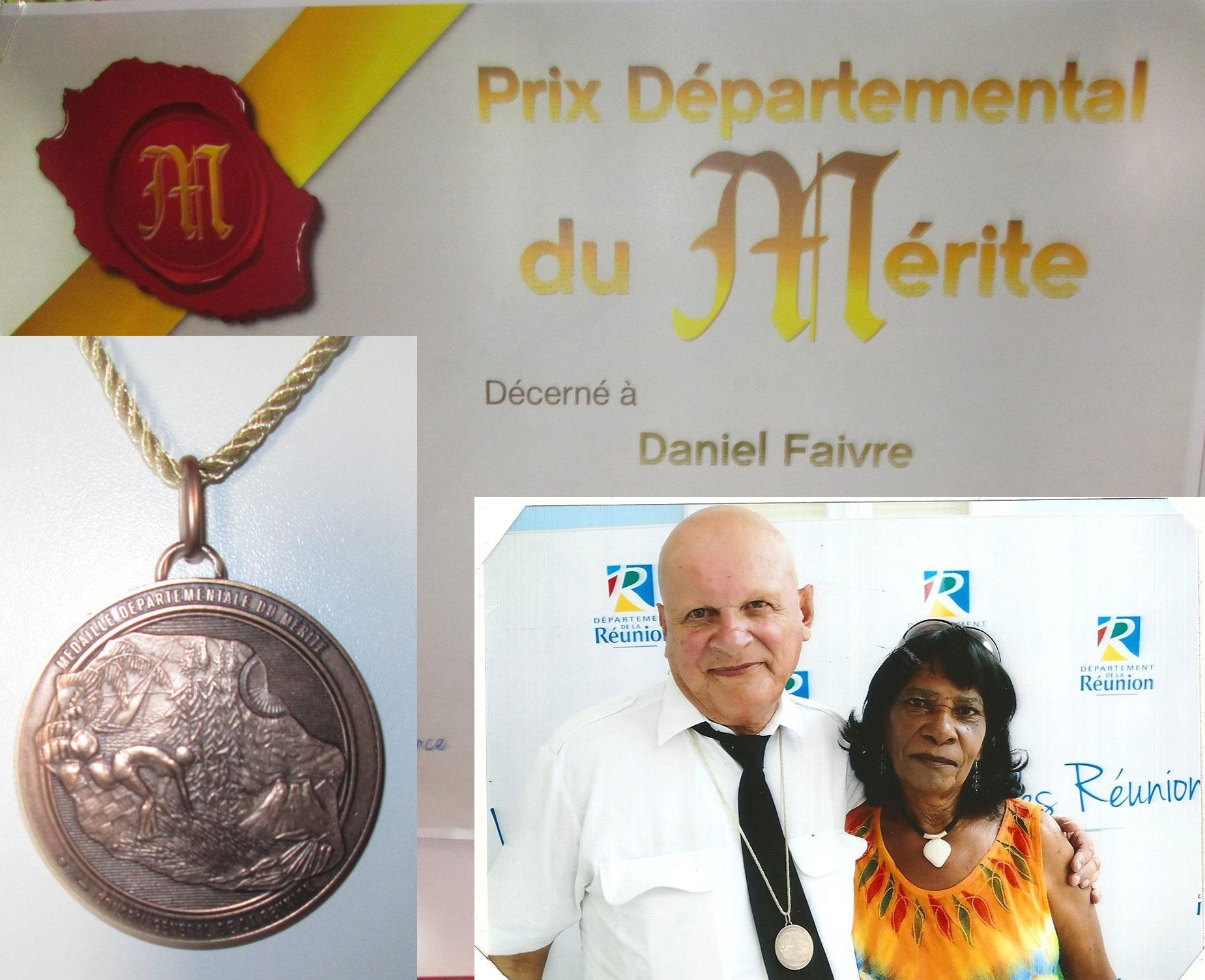 Daniel FAIVRE : Prix Départemental du Mérite