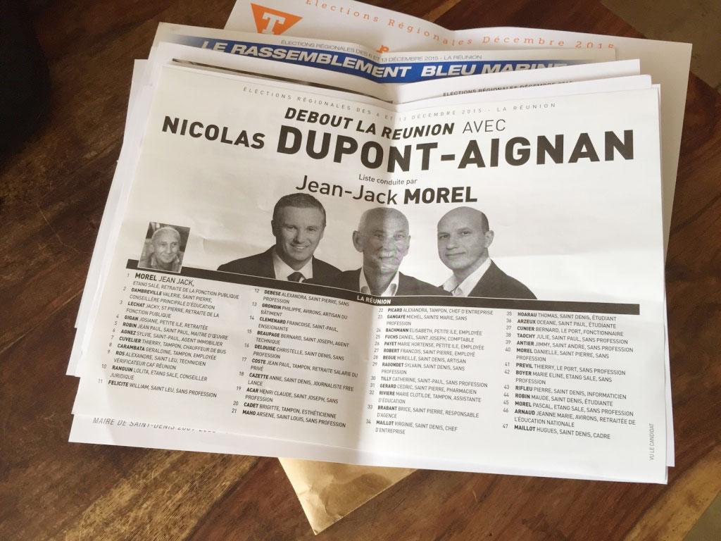 Debout La France : Résultats des élections régionales