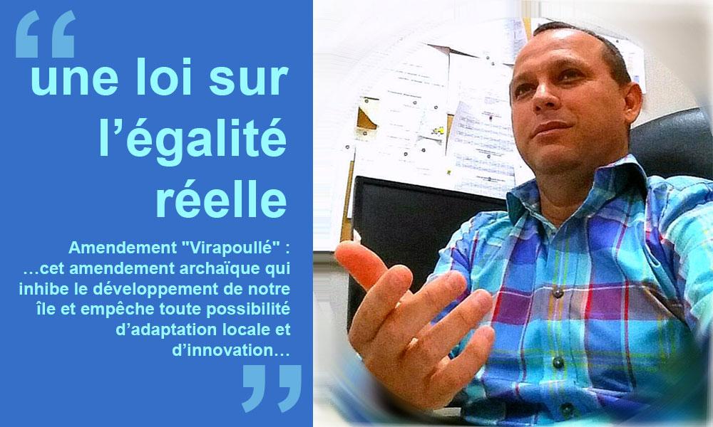 """Amendement """"Virapoullé"""" : que sa suppression soit associée à la future loi sur l'égalité réelle !"""