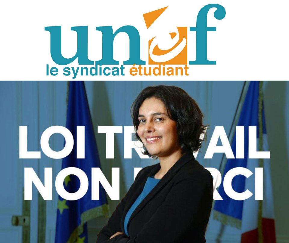 Loi EL KHOMRI : l'UNEF exige le retrait du texte !
