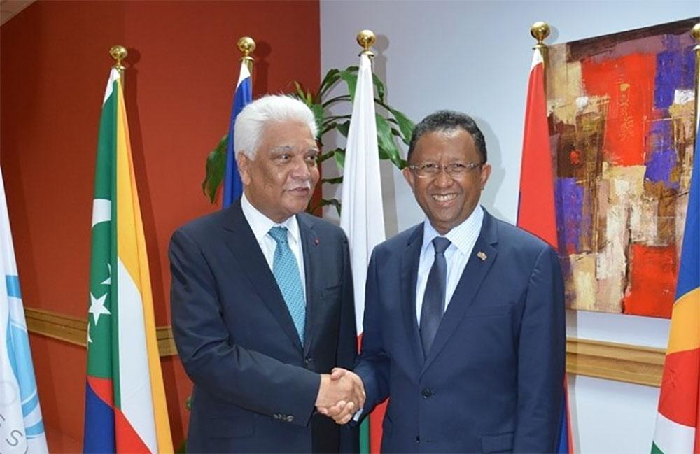 Le Président de la République de Madagascar à la COI