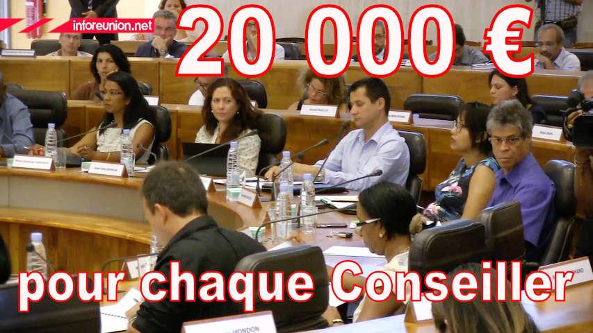 20 000 euros pour chaque Conseiller Départemental