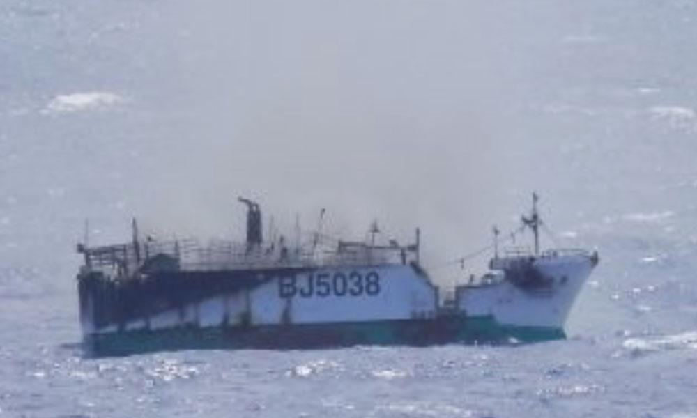 Sauvetage de 16 naufragés du navire taïwanais JORDAN No.5
