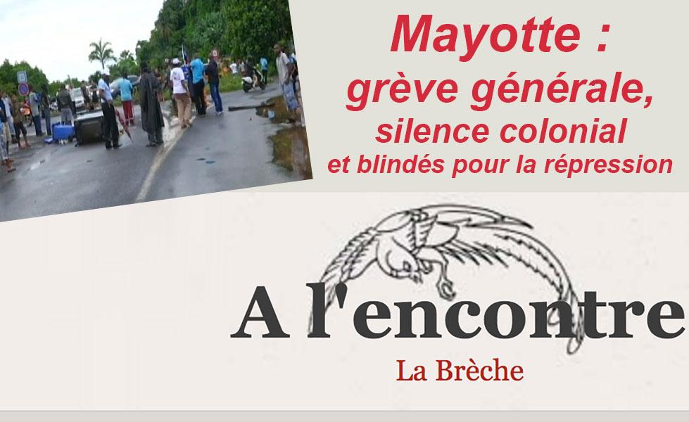 Mayotte : Silence colonial sur une grève générale