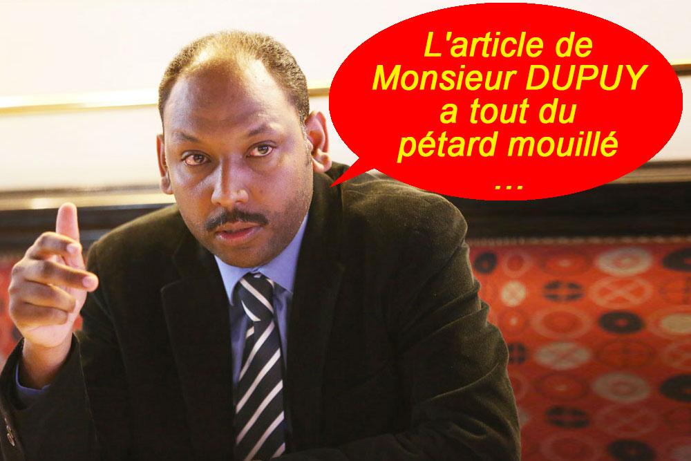 """Thierry ROBERT : """"L'article de Monsieur DUPUY a tout du pétard mouillé"""""""