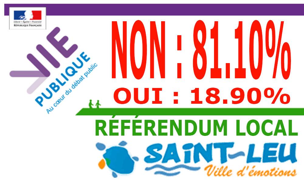 Saint-Leu : Le NON l'emporte