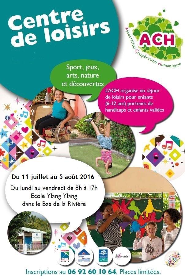 L'ACH ouvre son centre de loisirs pour enfants valides et porteurs de handicap en juillet/août