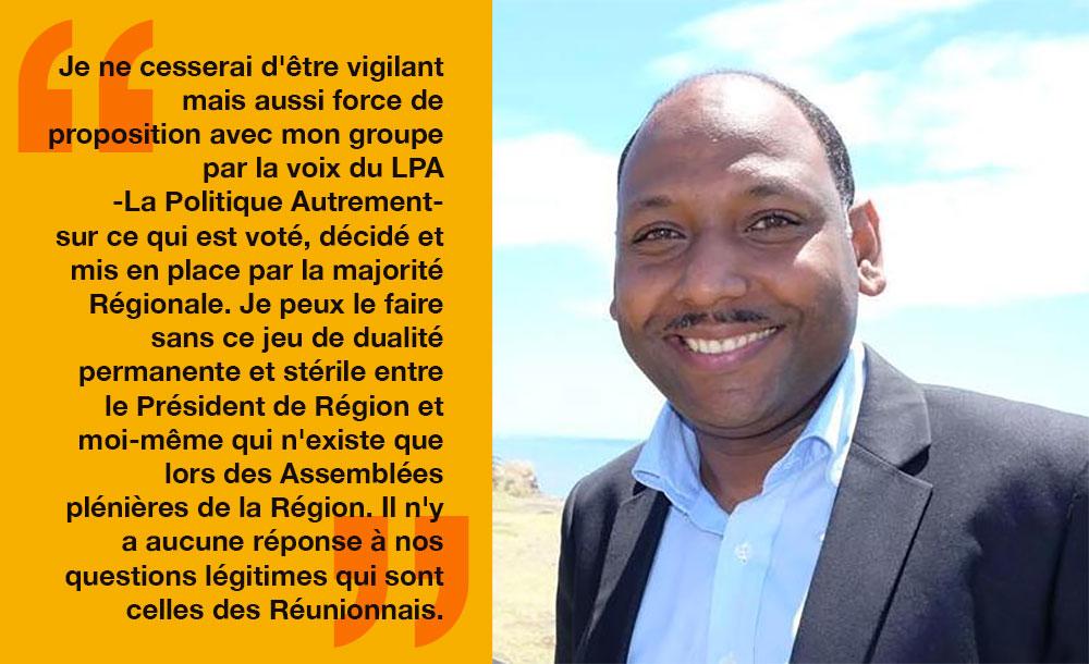 « Le choix du cœur et de la raison avec comme obsession Faire Avancer La Réunion ! »