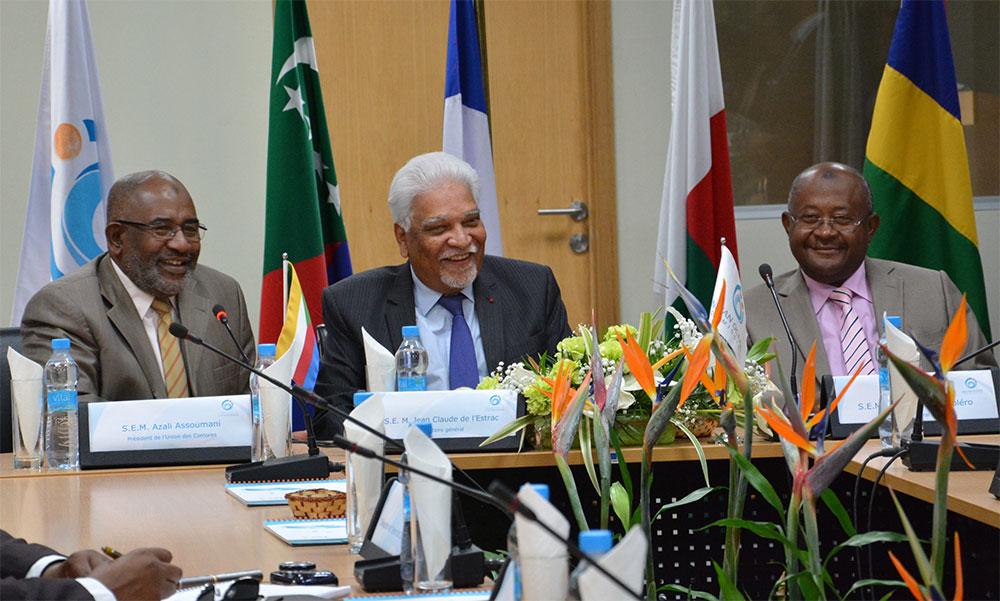 Visite du Président de l'Union des Comores à la COI