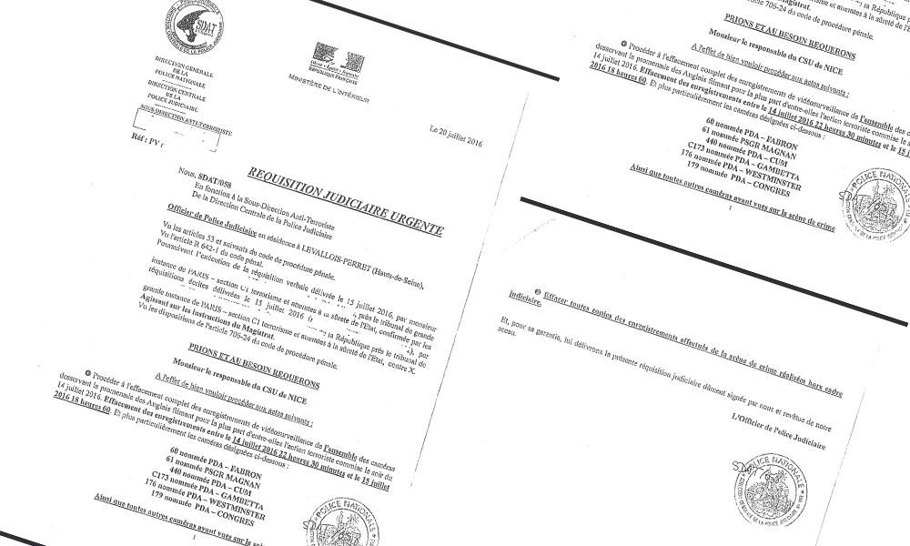 Une réquisition judiciaire « Urgente »...