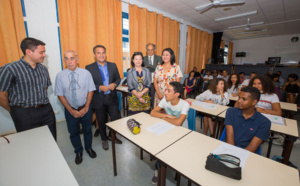Culture: Visite du Président de Région au lycée Le Verger Sainte-Marie