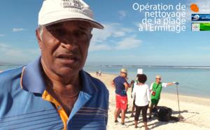 Opération de conscientisation sur la plage
