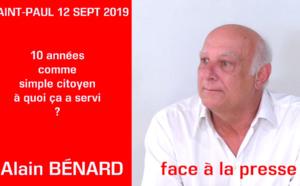 Alain BÉNARD : 10 ans loin du show médiatico-politique