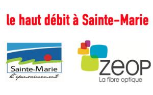 Sainte-Marie : Signature de la convention pour le déploiement de la fibre optique