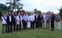 Les 13 entreprises réunionnaises chez son Excellence Mr Dominique MAS, Ambassadeur de France aux Seychelles