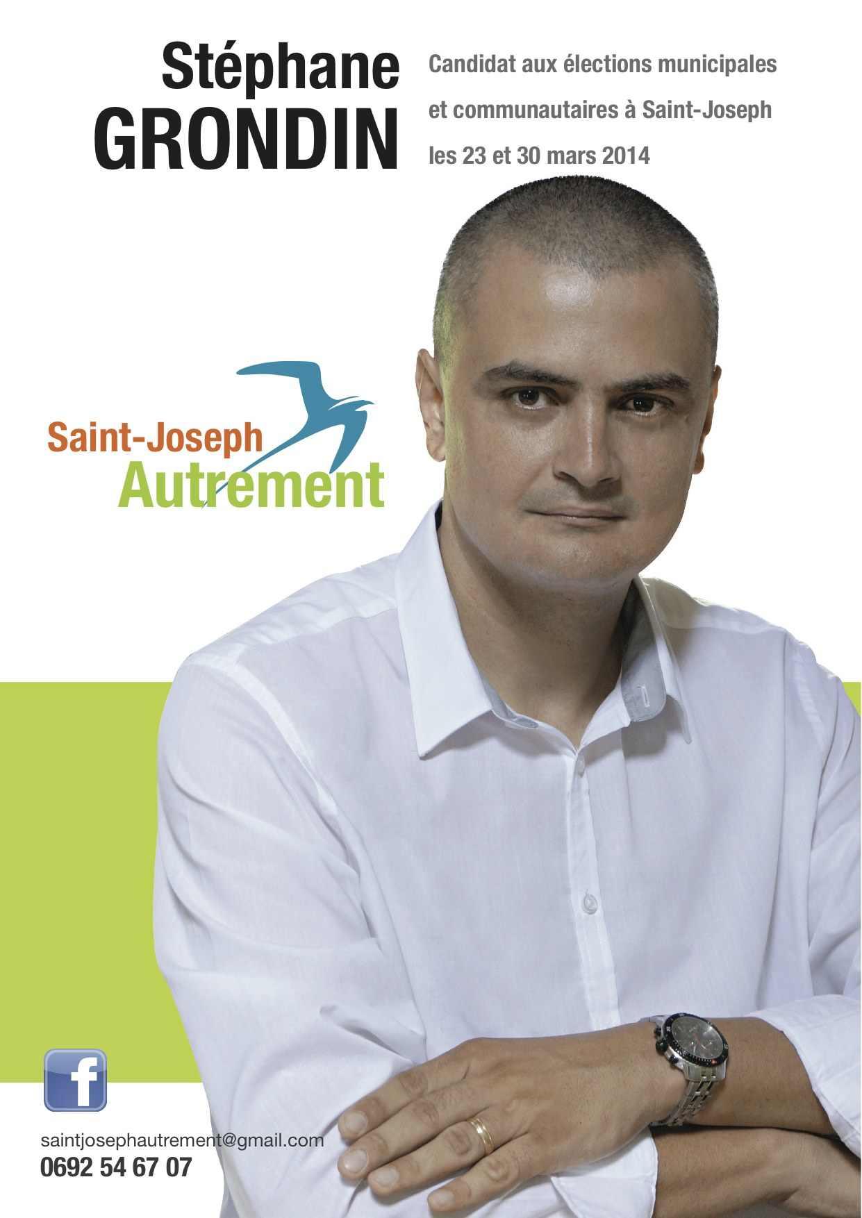 """Stéphane Grondin dit """"Boné""""  conduit la liste Saint-Joseph Autrement"""